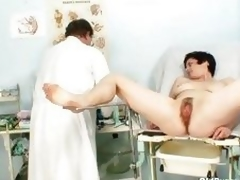 Old Barbora pussy real gyno fetish examination by docto