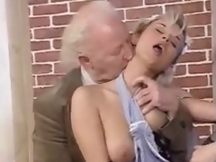 An old and youthful fuckfest with fucking and cumshots