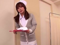 This gorgeous Japanese nurse knows whats what in treating men and she got her own way of it. She does it through tugjobs and now the sweetheart intend to show us how she does it.