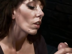 Desperate MILF with giant tits is reduced to an object of desire and torment when that babe tries to seduce a pissed off and perverted mechanic! Fantastic skillful milf with deep throat!