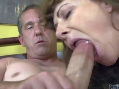 Alexandra Silk is a lewd mature doxy who loves to fuck and cant get enough. She gives deep oral-service to hot old man and then takes it up her pussy. See sexy assed mature whore engulf and fuck