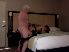 White Haired Grandpa Hotelroom Sex