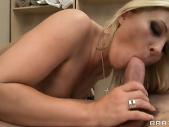 The mature hottie rides that large cock and her body shivers with pleasure