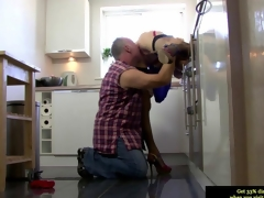 Euro mature in stockings gets her twat impaled