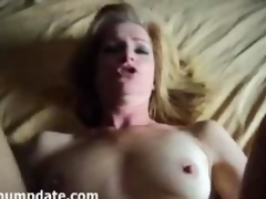 Mature gets rammed with an increment of face covered with jizz