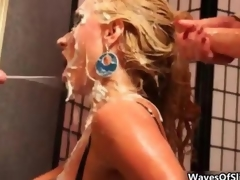 Cum affectionate blonde gets covered