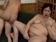 Unsightly old sluts go crazy sucking cocks segment