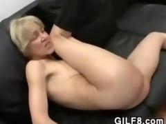Gossamer Blonde Grandma Shagging And Facial