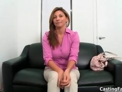 Sexy brunette coddle goes crazy sucking film 16
