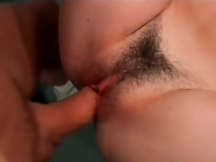Sexy Brunette MILF Nadia Dreams Gets Her Hairy Pussy Screwed At The Gym
